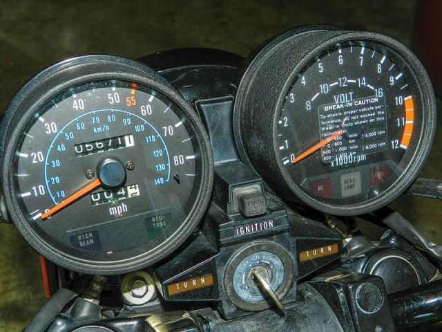 Kawasaki Spectre dash.