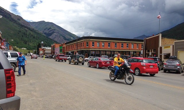 Motorcycle ride Colorado San Juan Mountains Million Dollar Highway