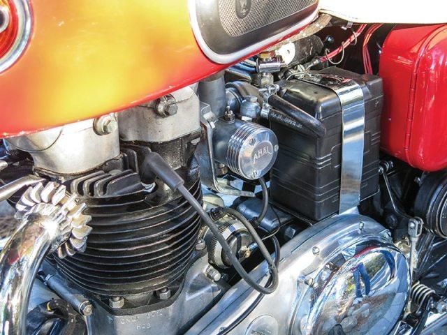 1958 Ariel Cyclone Twin 650 engine
