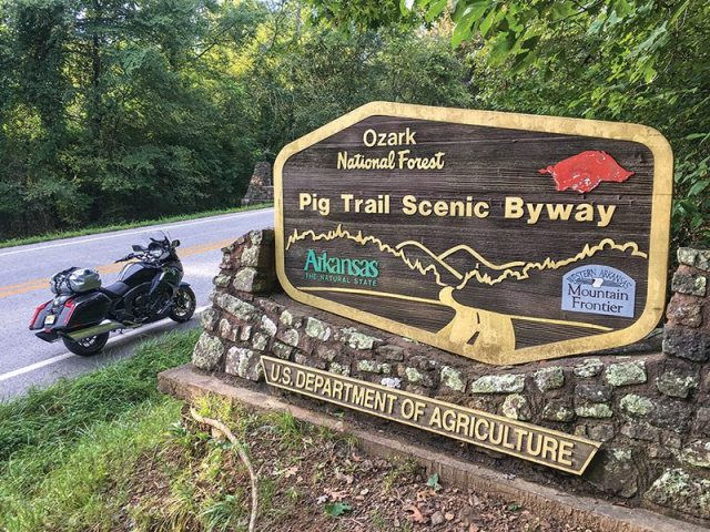 2018 BMW K 1600 B at the Pig Trail Scenic Byway Ozarks