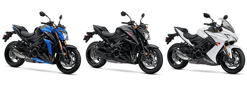 2018 suzuki gsxr 600. plain suzuki from left to right gsxs1000 abs gsxs1000z and gsxs1000f for 2018  suzuki  inside suzuki gsxr 600