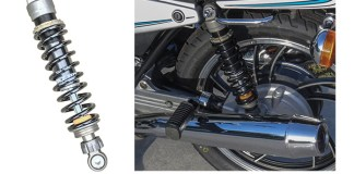 Race Tech dual shocks installed on the author's 1982 Yamaha Seca