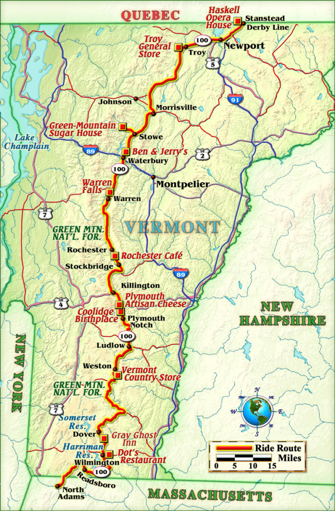 Marked by mountains, rivers and lakes, topozone maps out a detailed look at the topography of vermont, with topos pinpointing every major region of the state. Favorite Ride Vermont Route 100 Rider Magazine