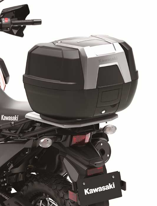 2022 Kawasaki KLR650 Traveler top case