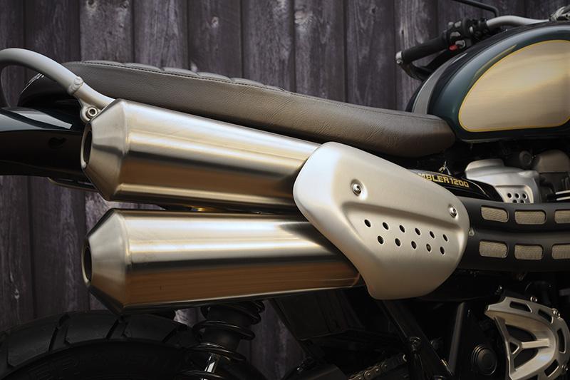 2022 Triumph Scrambler 1200 Steve McQueen Edition high pipe exhaust