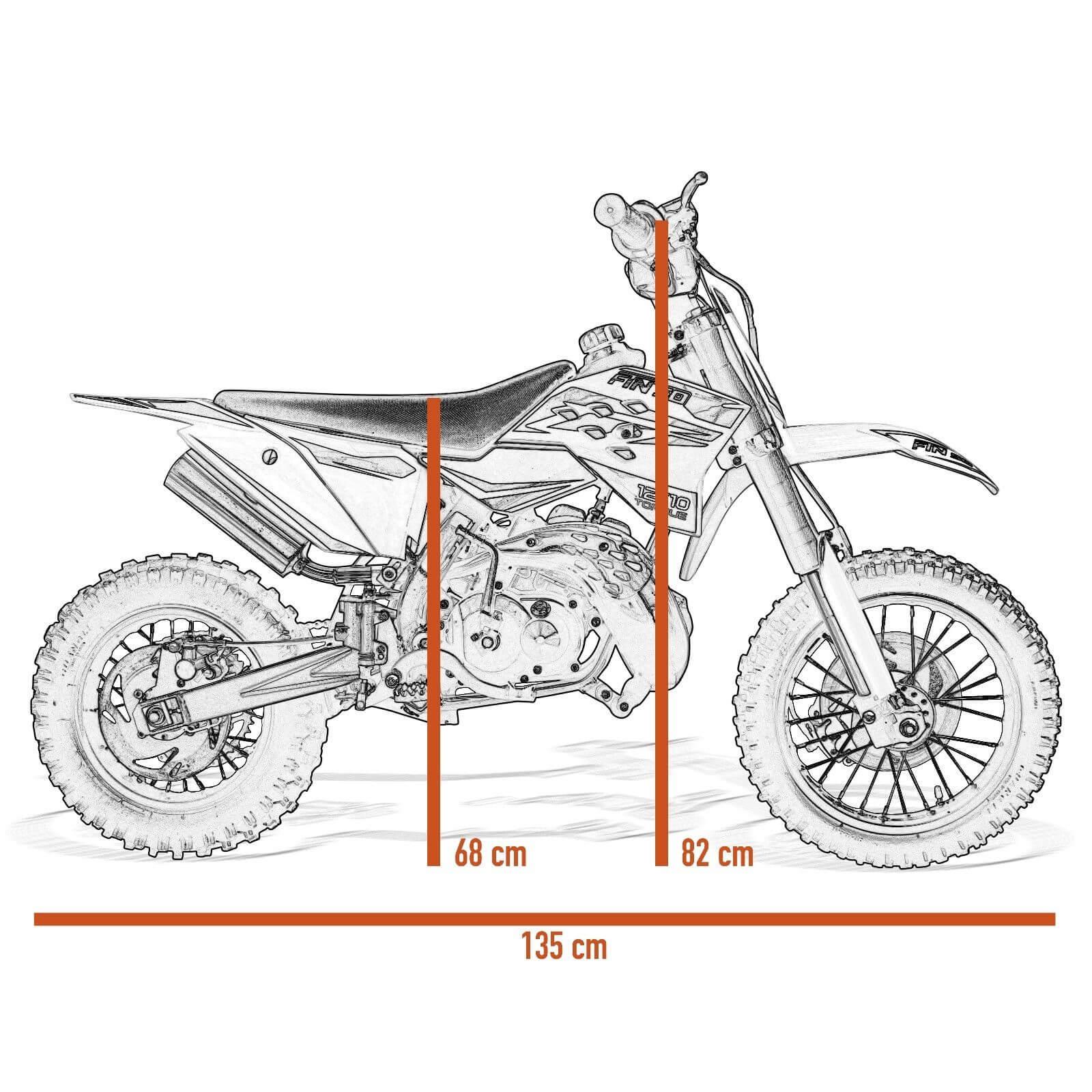 2 Stroke 50cc Dirt Bike 12 10 Wheels Hydraulic Front And