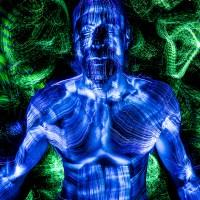 Retratos con fibra óptica