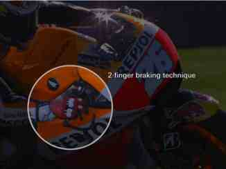 Dani Pedrosa braking technique