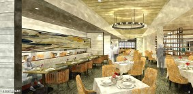 A view of the new Seasons dining room