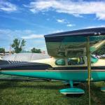 I love the paint scheme on this 1958 Cessna Skylanehellip