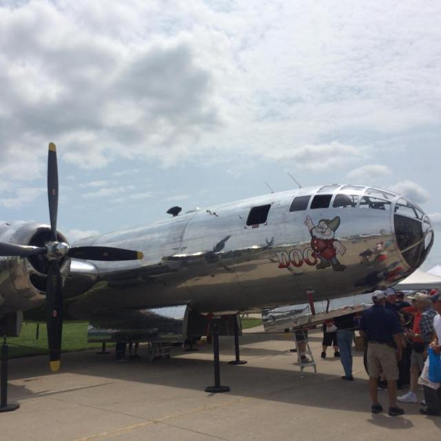 Gorgeous B29 on the tarmac at EAA AirVenture boeing flywithaopahellip