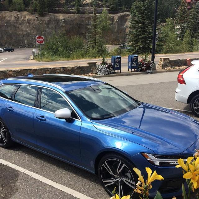 Volvo and flowers Very impressed with the V90 wagon Itshellip