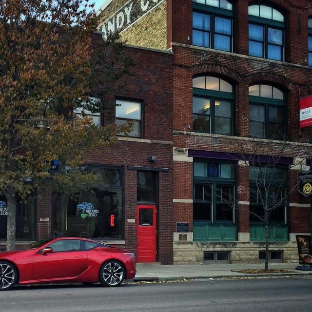 Red car Red brick Red door lexususa lc500 luxury luxurycarshellip