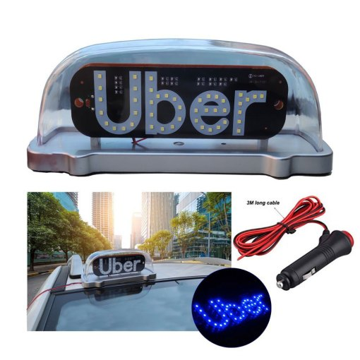 Uber Led light,Uber Cab Roof Top Illuminated Sign Topper Car 12V Car Top Light waterproof