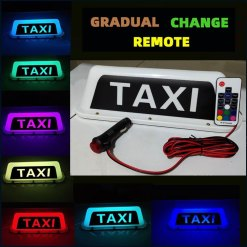 axi Sign Light, Remote Control Waterproof Rideshare Roof LED Light, Decal Glow Accessories, 7 Glowing Colors Taxi Light Signs For Cars - Cigarette
