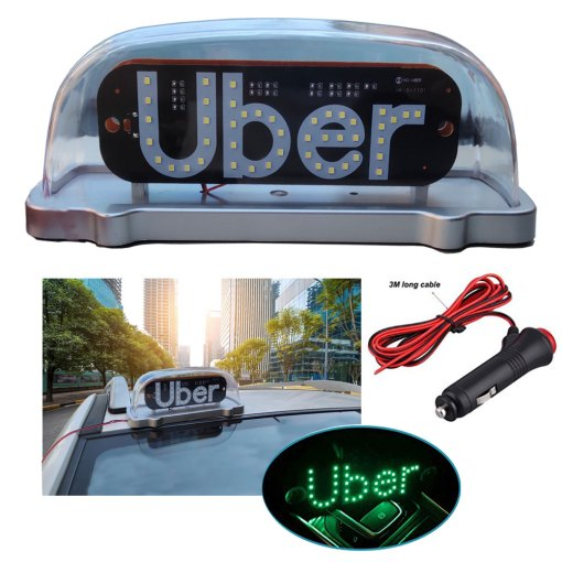 Waterproof Car Taxi Roof Top LED Light Cab Topper Lamp (12v) Magnetic Vehicle Indicator-PINK