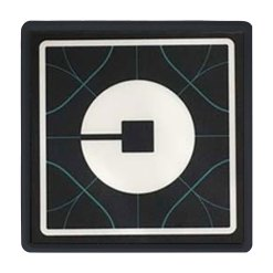 5V New Wireless UBER Light Sign Blue Taxi Driver Ride share Car Cab Logo Rechargeable Fashion