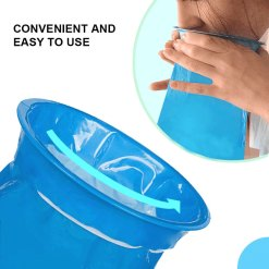 Pack Emesis Bags, Disposable Vomit Bags, Blue Waste Disposal Bags, Aircraft Car Bag, Nausea Bags for Travel Motion Sickness