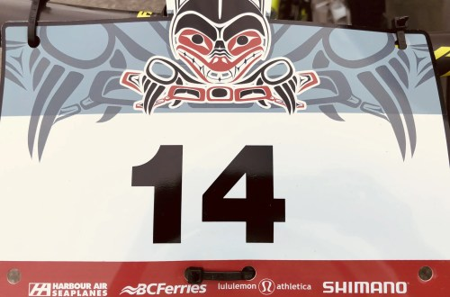 BC Bike Race number plate
