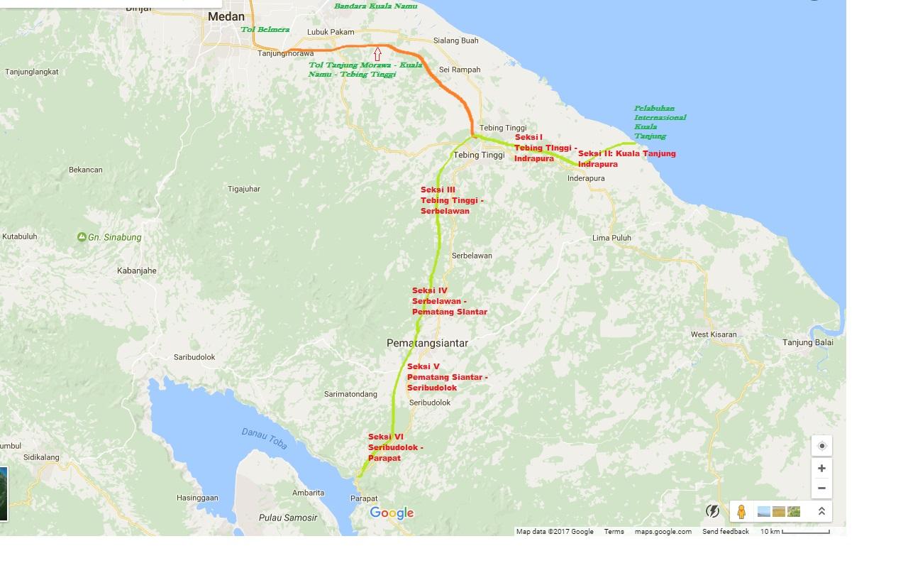 Jalan Tol Kuala Tanjung Tebing Tinggi Pematang Siantar
