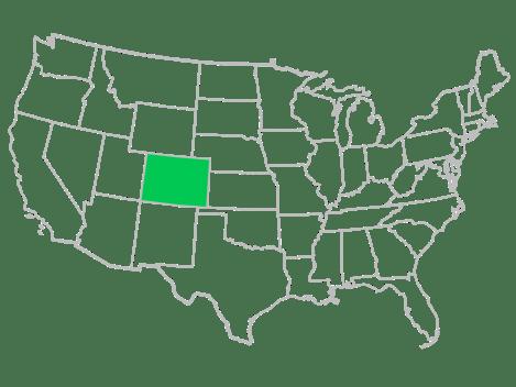 Co USA map