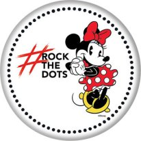 Minnie Mouse Rock the Dots Button