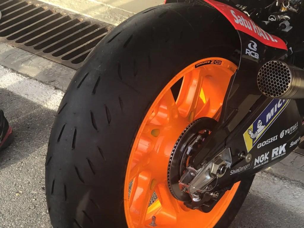 Moto GP transport tyre