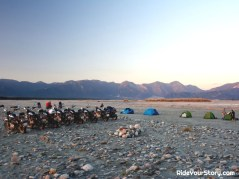Camp by another riverbed of the still Brahmaputra. We are so minute in comparision