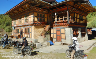 A rest stop along Bumthang Valley