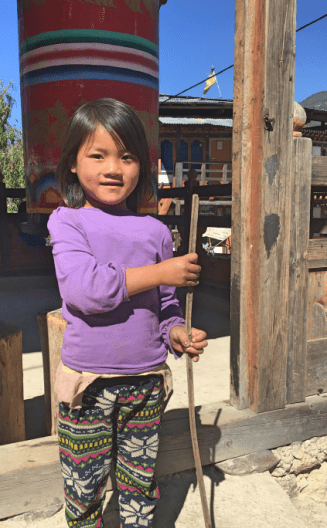 A cute Bhutanese girl approached us for her photo to be taken