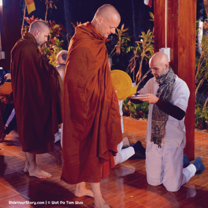 Rice offering to the monks