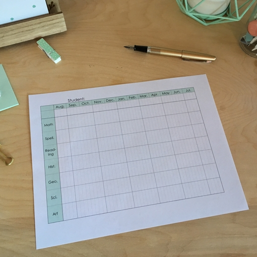 Annual Homeschool Planner