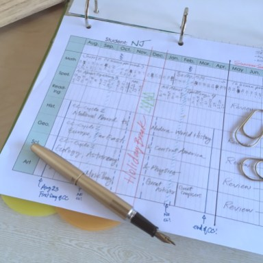 Sample- Plan the Homeschool Year