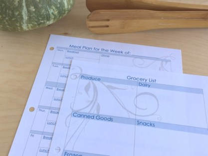 Fully editable meal planning
