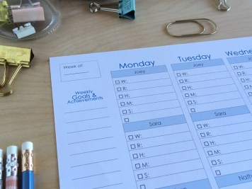 Homeschool Planner for Mom of 4 kids