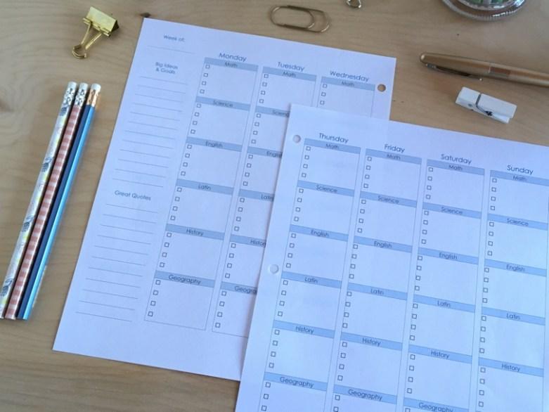 Homeschool Student Planner