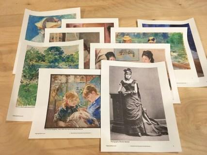 Samples of Berthe Morisot's art