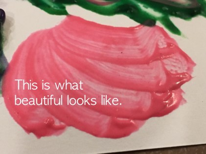 Painting with thickened paint