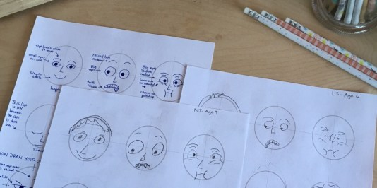 drawing funny faces
