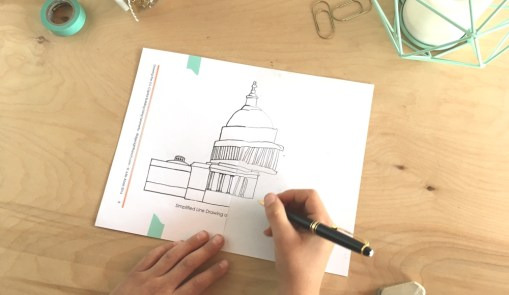 W2: Drawing the U.S. Capitol Building Using Symmetry