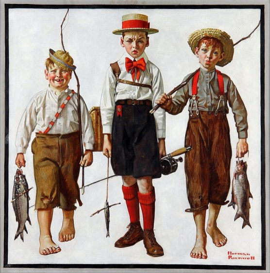 Norman Rockwell - The Catch- web