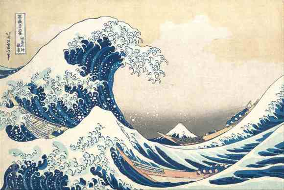 The Wave by Katsushika Hokusai- web