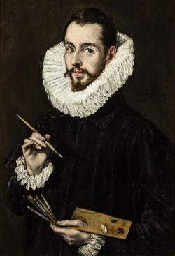 El Greco - Portrait of the Artist's Son Jorge Manuel Theotokopoulos- web
