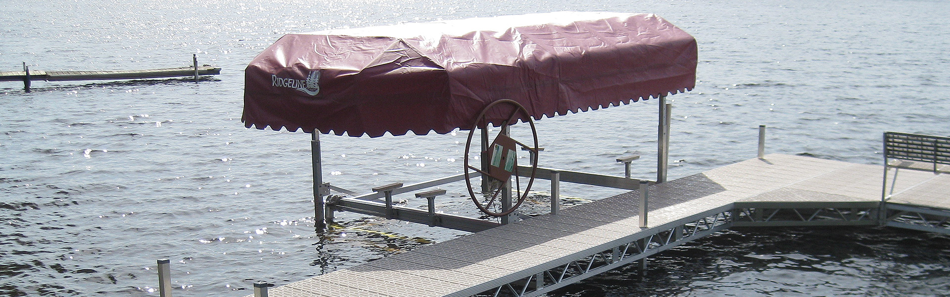 Boat Lifts and Canopies – Ridgeline Manufacturing – creating high quality aluminum docks, boat ...