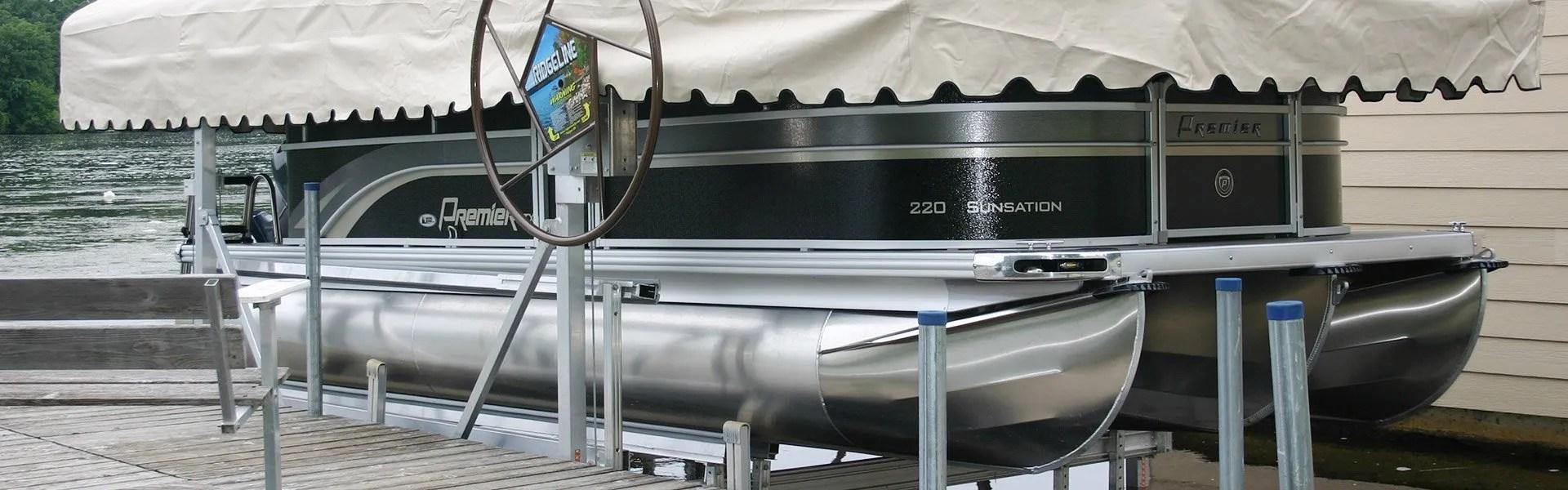 RIDGELINE Vertical Boat Lifts & Boat Lifts and Canopies u2013 Ridgeline Manufacturing u2013 creating high ...