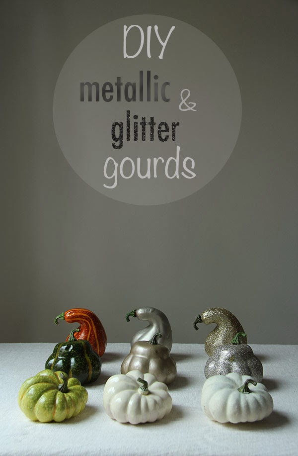 DIY Metallic and Glitter Gourds (1) | Ridgely's Radar