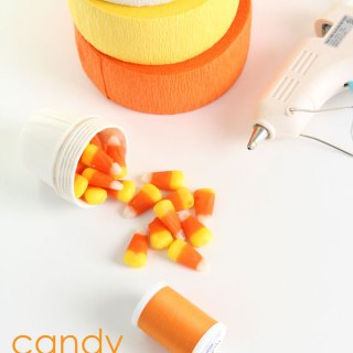 DIY Candy Corn Baskets