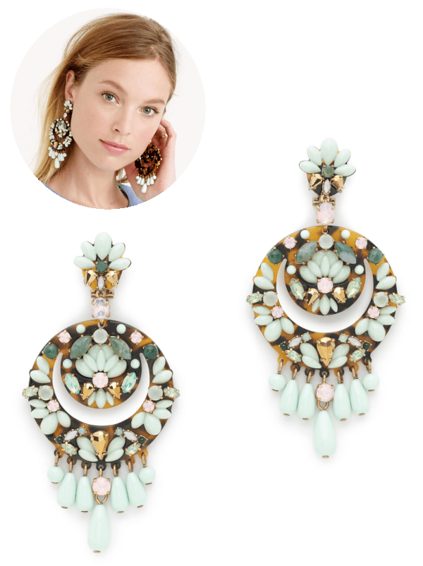 crescent floral cluster earrings | J. Crew.com
