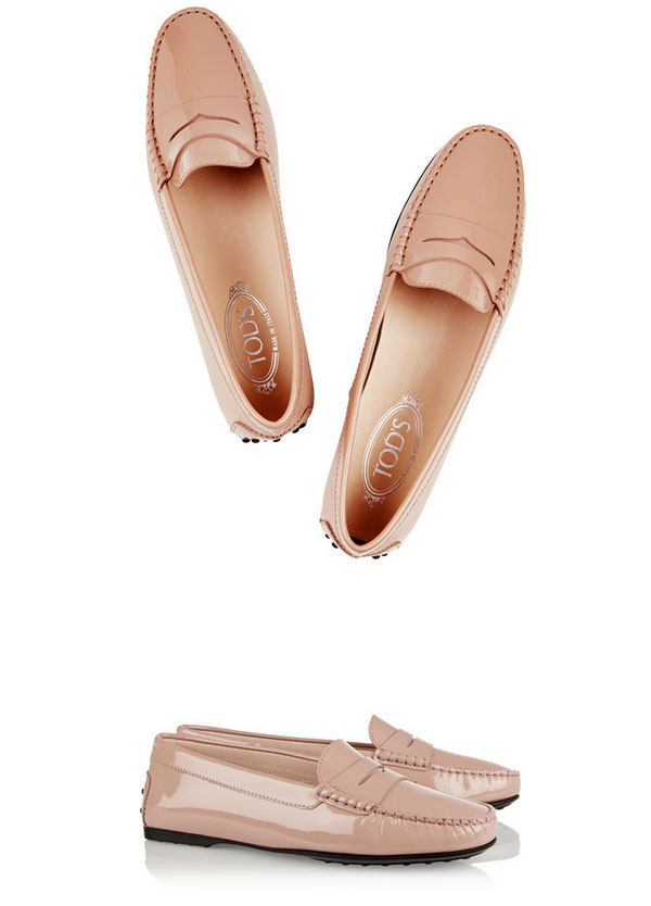 Tod's City Gommino Patent-Leather Loafers | Net-a- Porter
