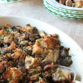 Two Way Stuffing with Mushrooms and Bacon